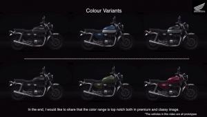 Honda H'ness colors