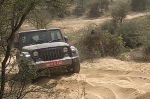 Mahindra Thar off roading