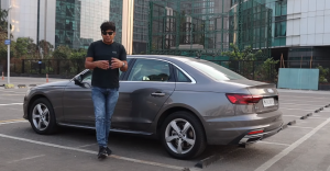 Audi A4 side look